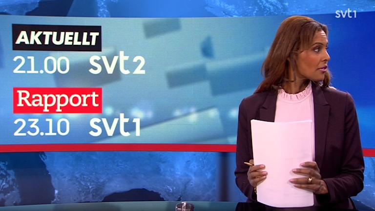 Skärmdump från Rapport 19:30