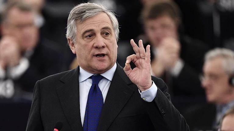 Italienaren Antonio Tajani är talman i EU-parlamentet.