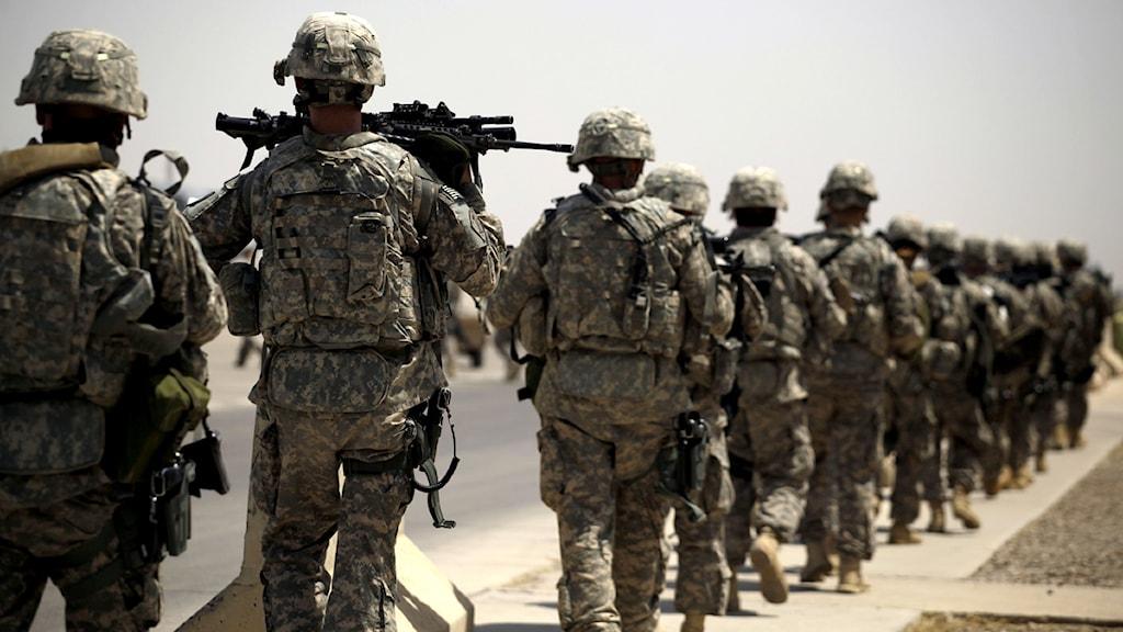 Amerikanska soldater. Foto: Maya Alleruzzo /Scanpix
