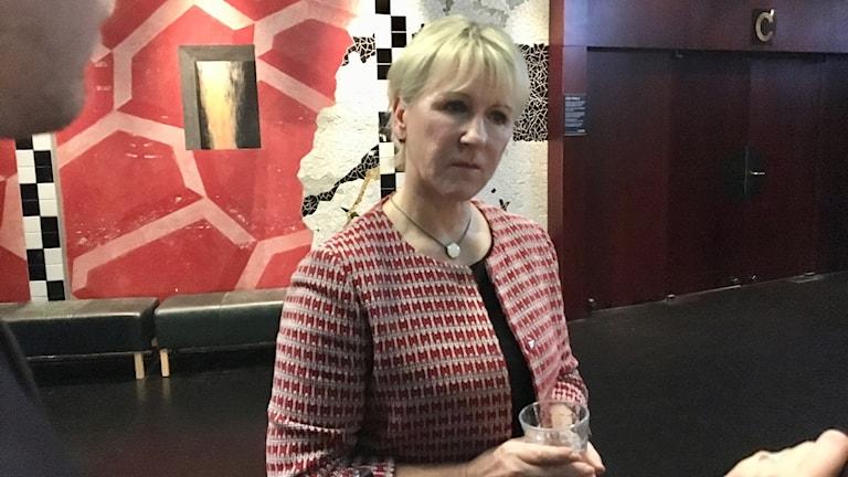 Margot Wallström (S) är nöjd över resultatet efter mellanårsvalet i USA.