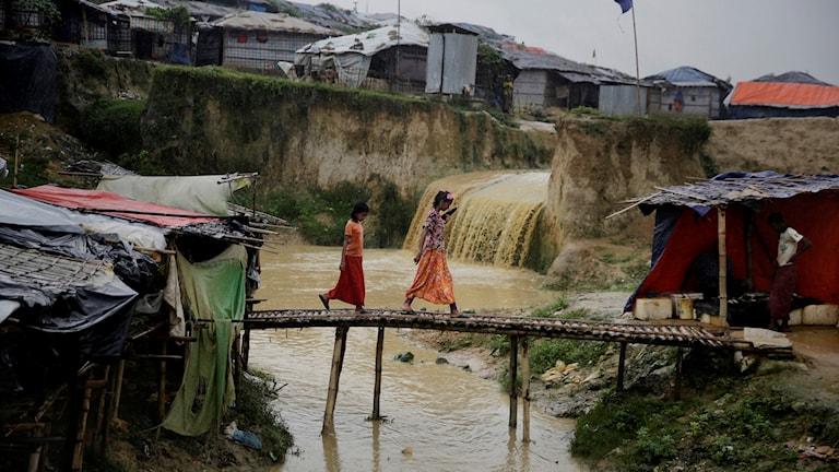 Rohingyer i ett flyktingläger i Bangladesh. Det senaste året har hundratusentals människor flytt från Myanmar till grannlandet Bangladesh sedan deras byar bränts ned och människor dödats.