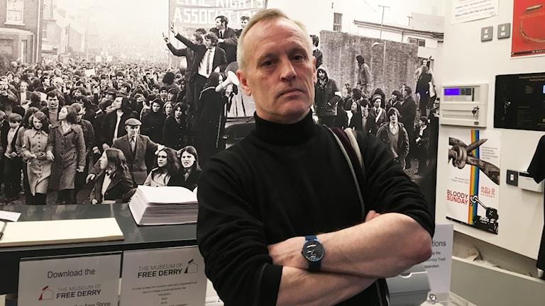 Adrian Kerr, som grundat muséet Free Derry, tror att Brexit kan leda till en folkomröstning om att förena Nordirland med Irland.