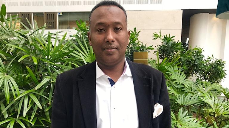 Abdiaziz Elmi, entreprenör från Stockholm.