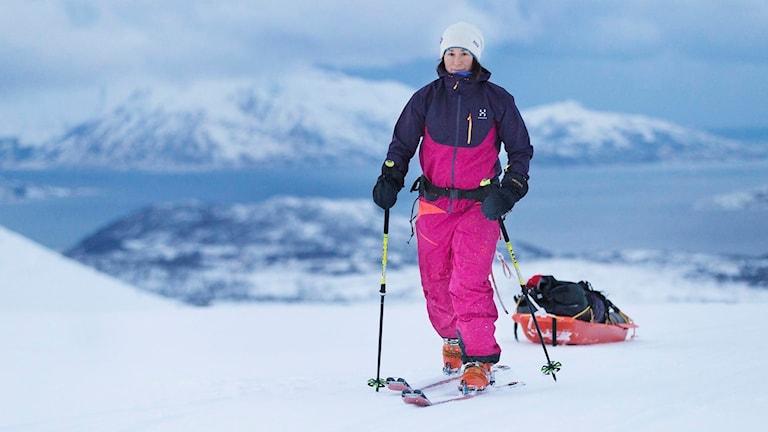 Johanna Davidsson har nått Sydpolen som snabbaste kvinnan någonsin. Arkivbil