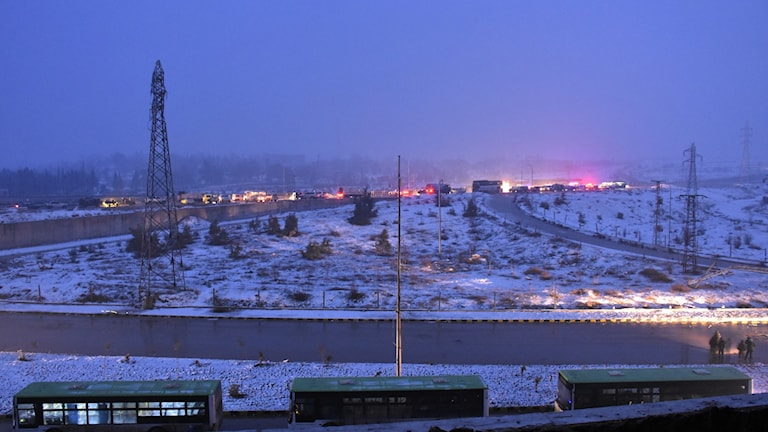 Snö i Aleppo
