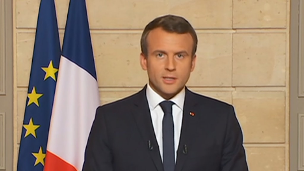 Frankrikes president Manuel Macron