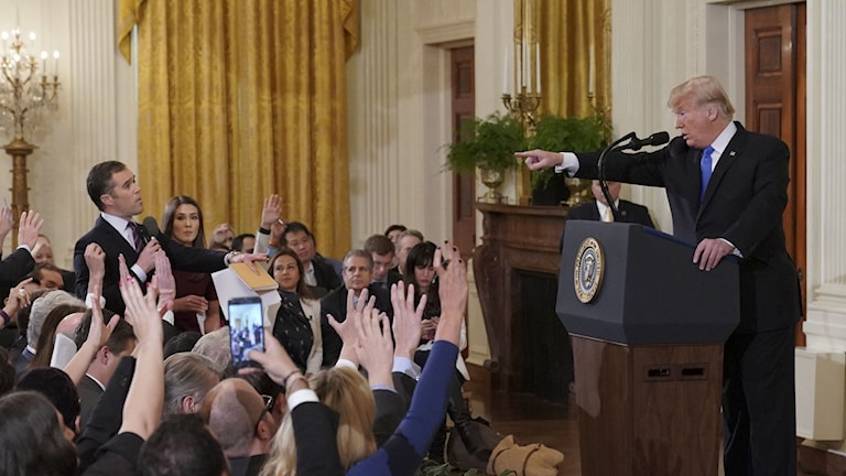 Trump i bråk med CNN:s reporter