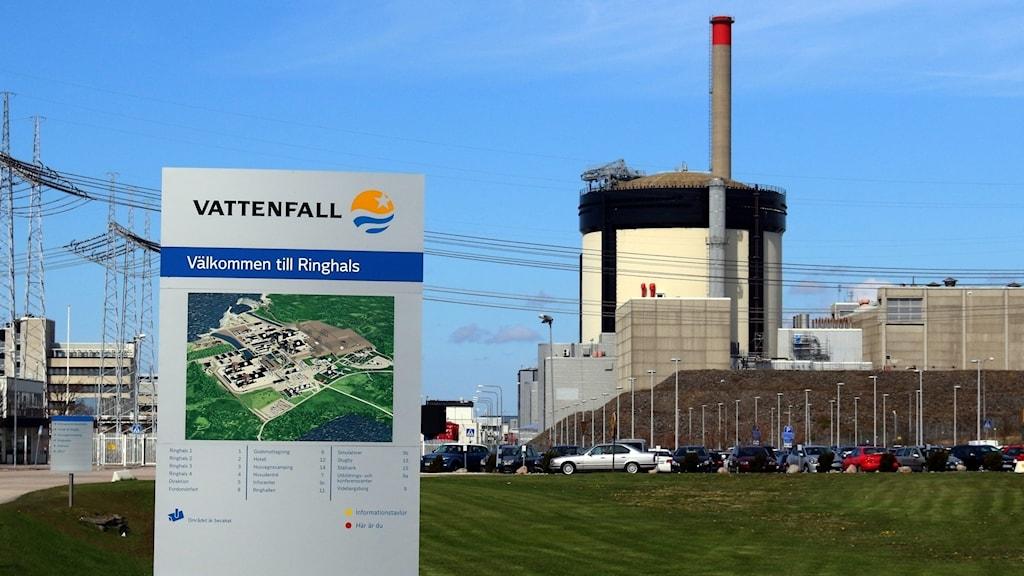 Ringhals kärnkraftverk utanför Varberg.