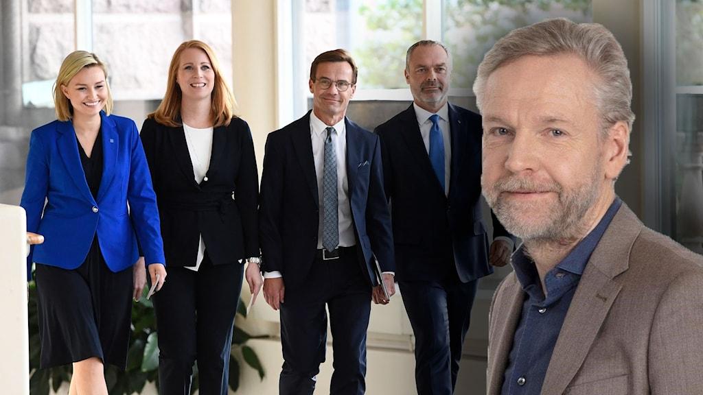Ekots inrikespolitiske kommentator Tomas Ramberg. Alliansen i bakgrunden.