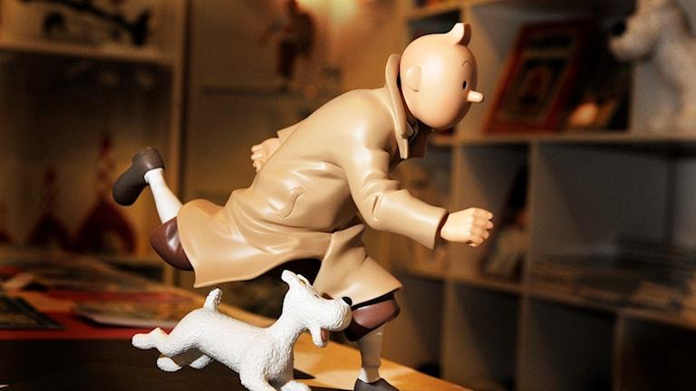 Tintin på språng tillsammansmed sin hund Milou. Foto: Lars Pehrson/TT.