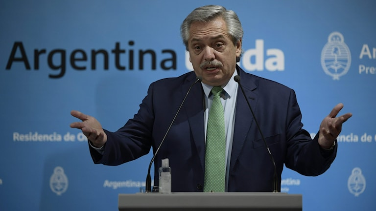 Argentina's President Alberto Fernandez