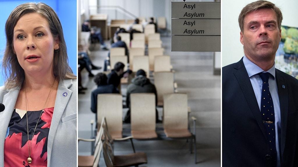 Moderaternas migrationspolitiska talesperson Maria Malmer Stenergard och Kristdemokraternas Hans Eklind.