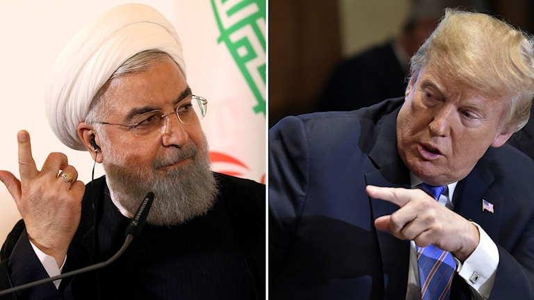 Hassan Rouhani och Donald Trump