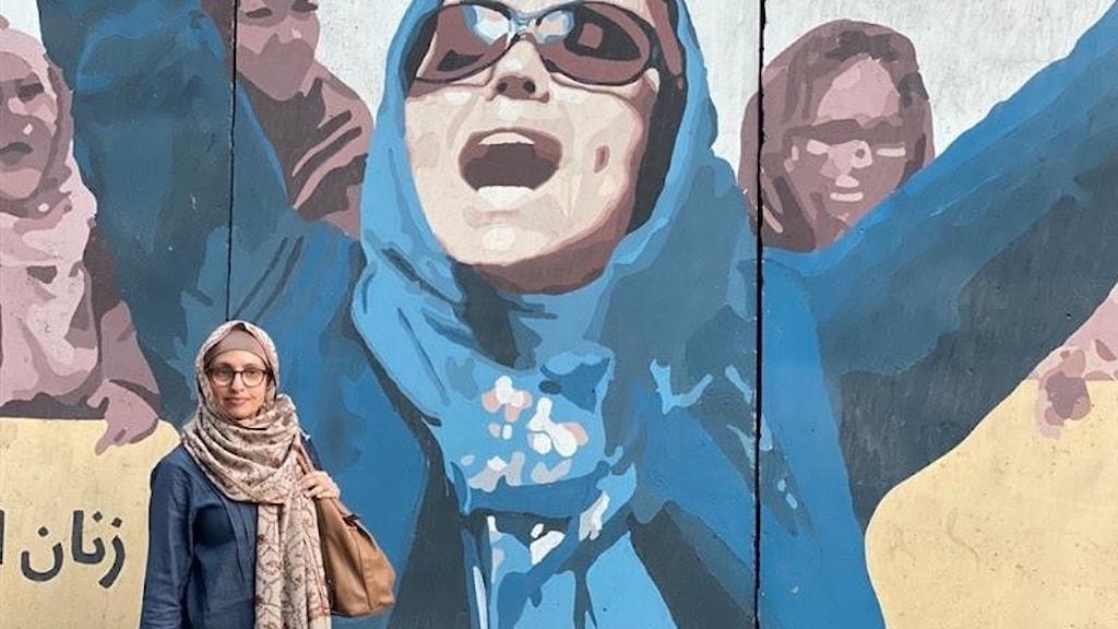Naila Saleem på plats i Kabul, Afghanistan