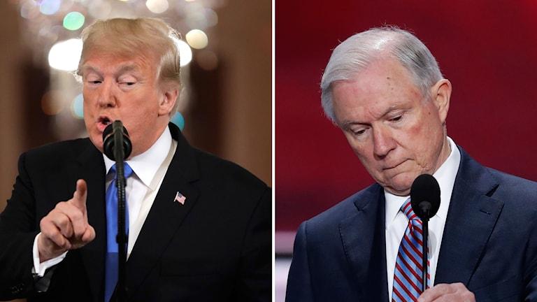 USA:s justitieminister sparkas av Trump.