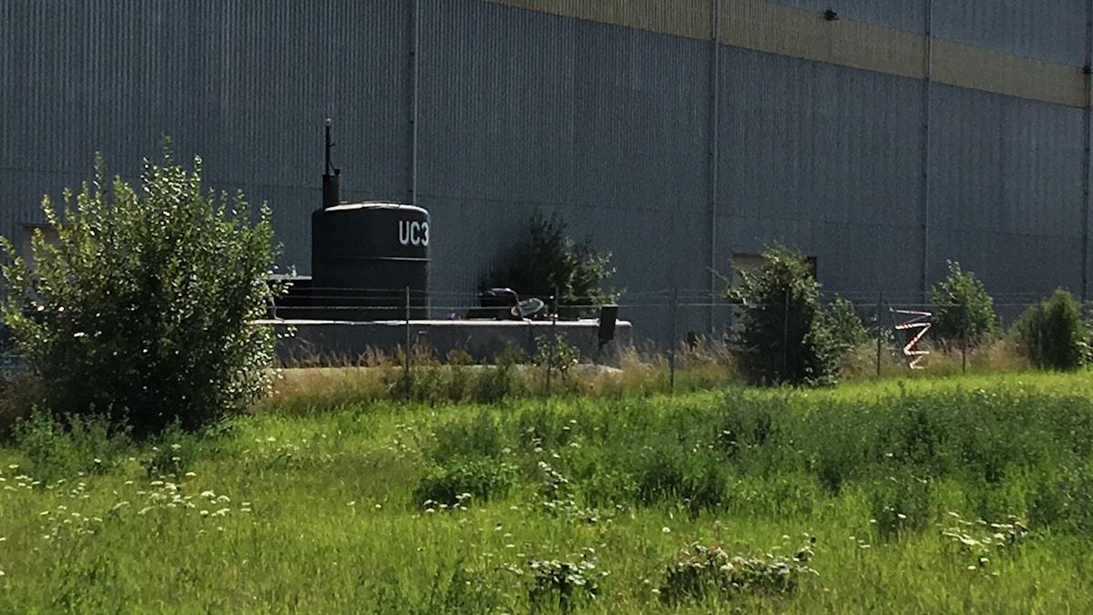 Den bärgade ubåten. Foto: Natacha Lopez/Sveriges Radio.