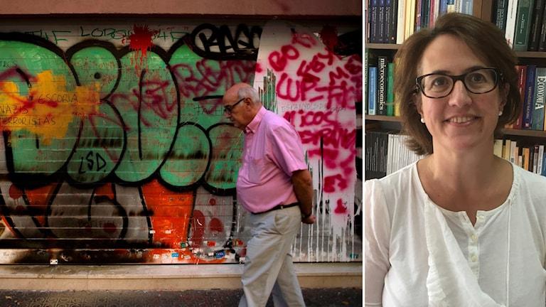 Företag flyr Katalonien säger Elisenda Paluzie är professor i ekonomi på Barcelona universitet