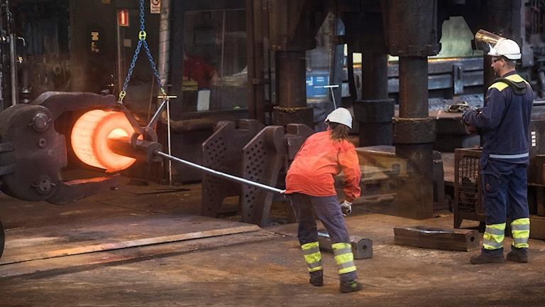 Ovako Sålverk i Hofors tillhör de berörda företagen. Foto: Fredrik Sandberg/TT.