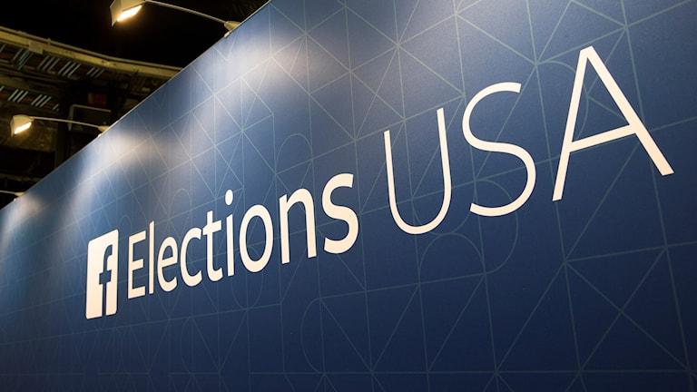 Skylt med texten Elections USA