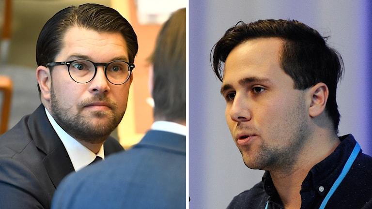 Jimmie Åkesson (SD) och Benjamin Dousa (Muf).