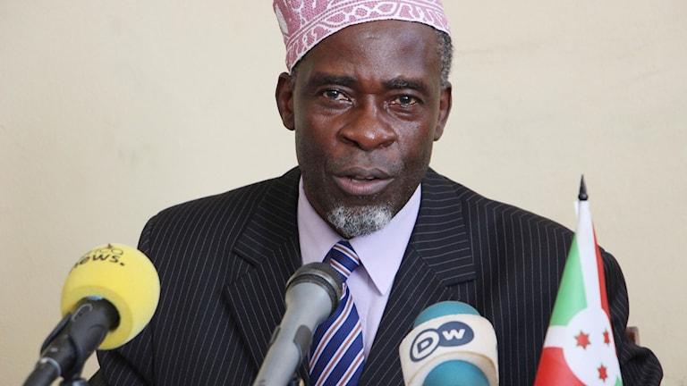 Karenga Ramadhan, chef för Burundis kommunikationsmyndighet.