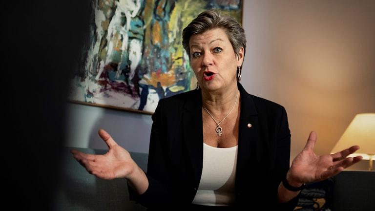 Arbetsmarknadsminister Ylva Johansson. Foto: Naina Helén Jåma/TT.