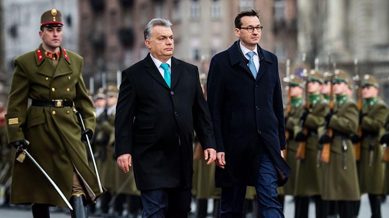 Polens nya premiärminister Mateusz Morawiecki har idag gjort sitt första officiella besök till Ungern.