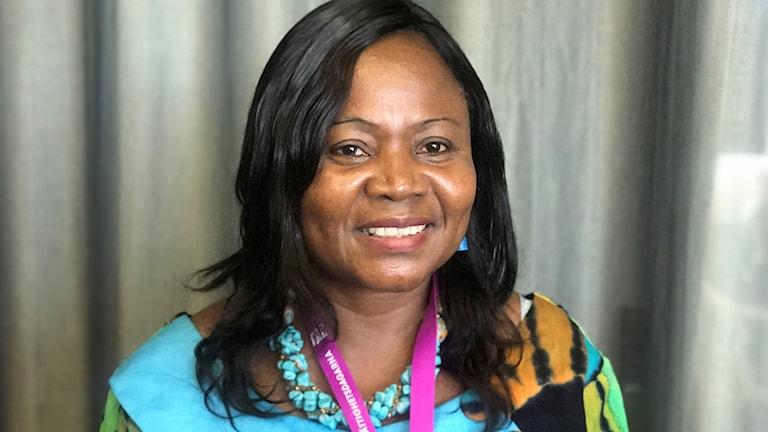 Sylvie Ndongmo ordförande för internationella kvinnoförbundet för fred och säkerhet i Kamerun, IKFF.