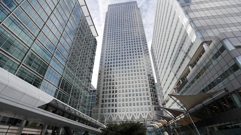 One Canada Square house där både EMA och EBA (europeiska bankmyndigheten) ligger i London.