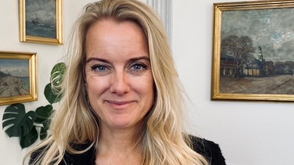 Pernille Vermund, partiledare för Nye Borgerlige.