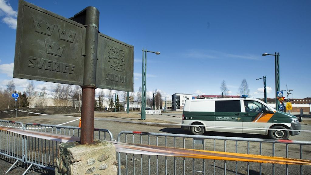 Gränsen mellan Sverige och Finland.