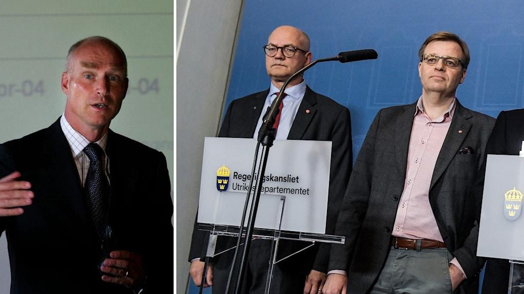 Bildkollage med Tommy Gardell, Per-Ola Mattsson och Lars O Grönstedt.
