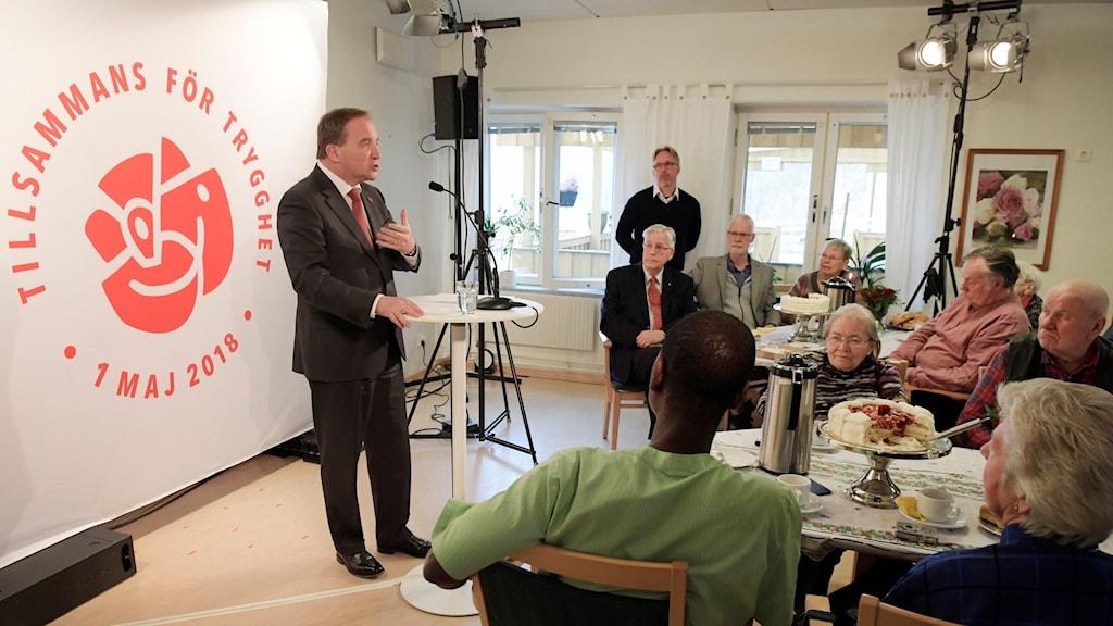 Stefan Löfven i Södertälje. Foto: Janerik Henriksson/TT.