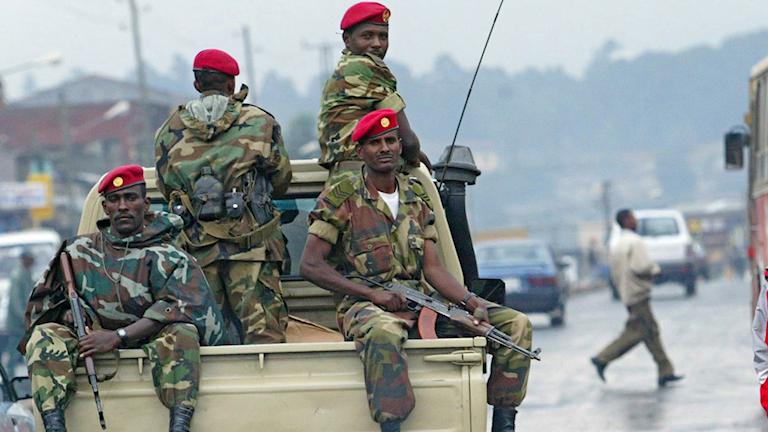 Etiopiska soldater, arkivbild.