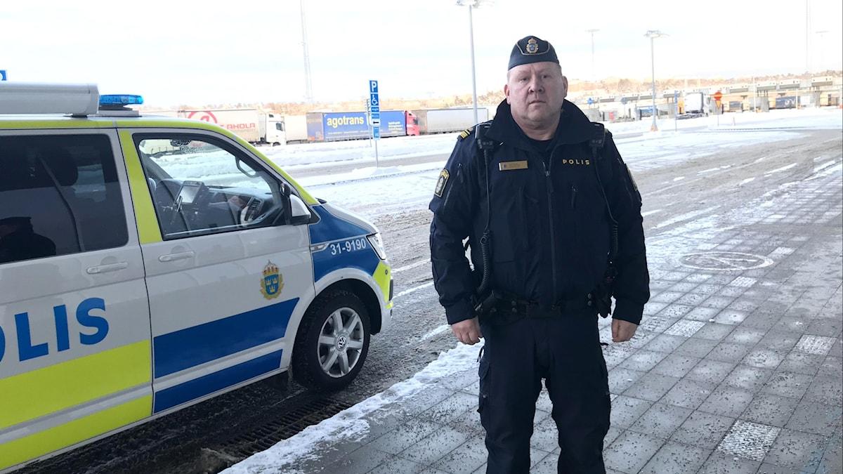 Gränspolisens insatschef vid Värtahamnen i Stockholm, Ulf Bajas.