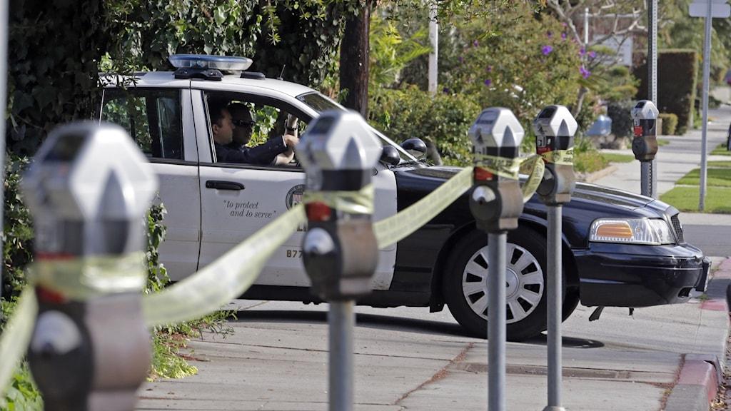 Poliser skjutna i Los Angeles