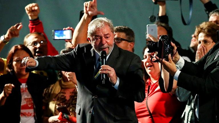 Brasiliens förre president Lula da Silva,