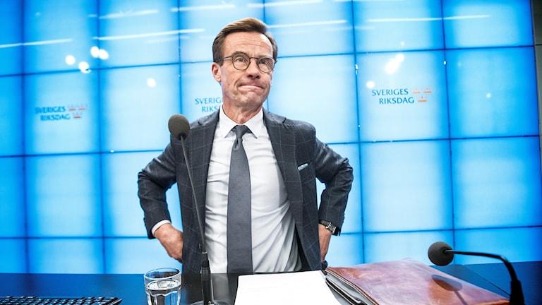 Ulf Kristersson (M) träffar Talmannen under tisdagen.