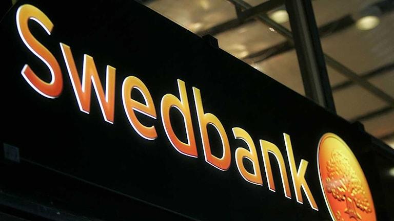 Swedbank logotyp. Foto: Bertil Ericson/Scanpix.