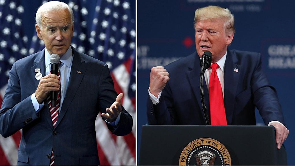 Donald Trump och Joe Biden
