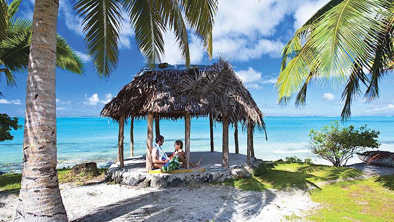 Ö-nationen Samoa är bland de första att gå in i det nya året . Foto: D Kirkland/Scanpix.