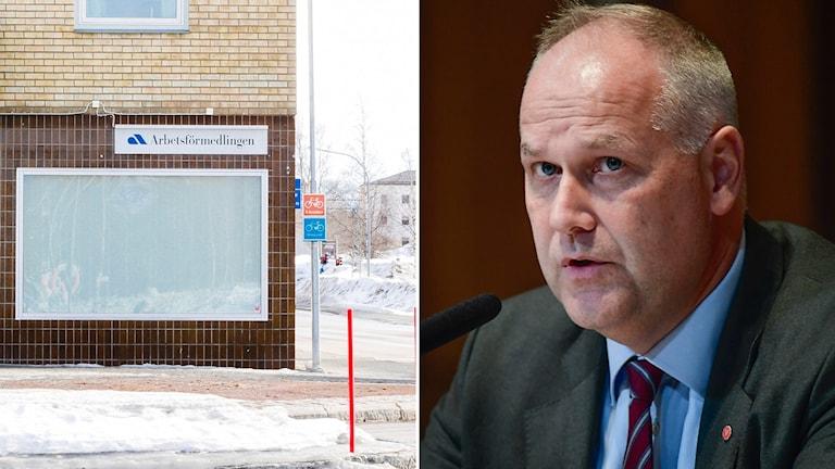 """""""Jag skulle vilja uppmana regeringen att sätta sig ner med oss, men också med Moderaterna och Kristdemokraterna, och lösa det här"""", säger Jonas Sjöstedt."""