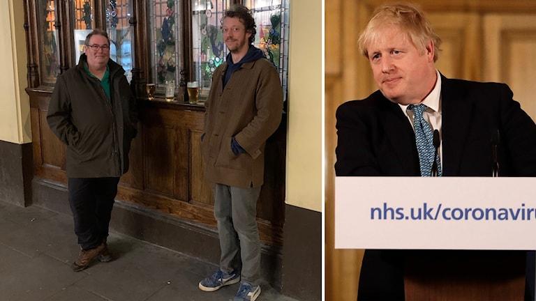 Flera Londonbor trotsade igår kväll premiärminister Boris Johnsons att undvika all onödig social kontakt.