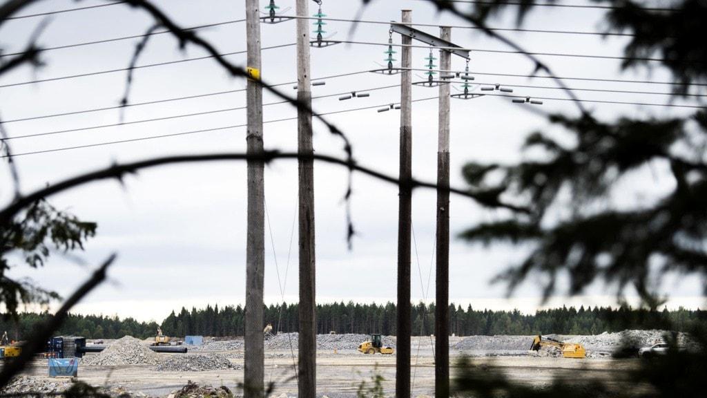 Bild från området där batterifabriken som byggs i Skellefteå.
