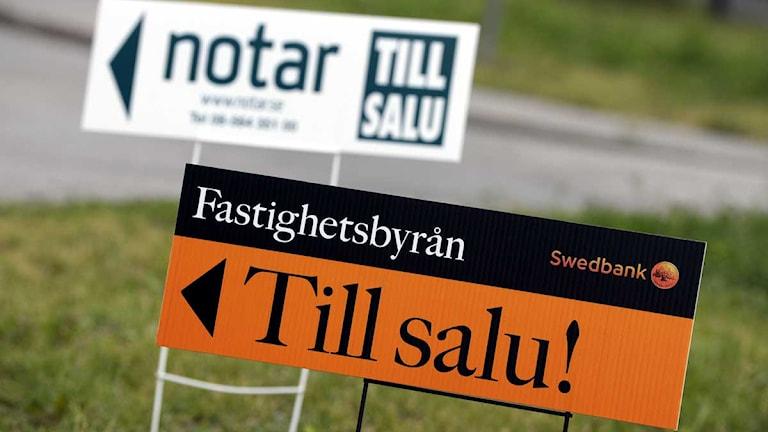 Under finanskrisen som bröt ut 2008 ökade hushållens skuldsättning och många fick problem med att betala kostnaderna för sina bolån. Foto: Janerik Henriksson/Scanpix.