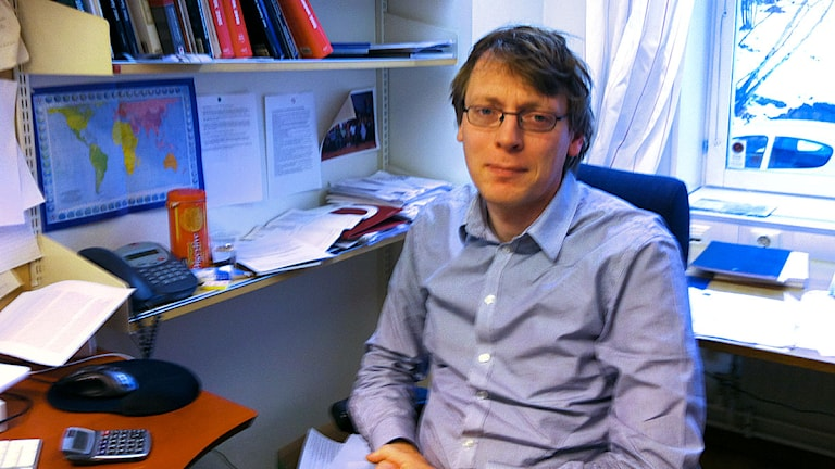 Pieter Wezeman, Sipri. Foto: Thella Johnson/Sveriges Radio.