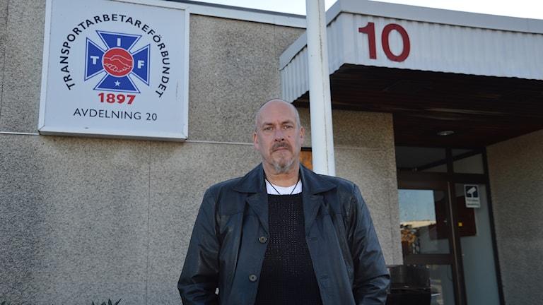 Tommy Jonsson, ombudsman vid Transportarbetarförbundet i Jönköping.