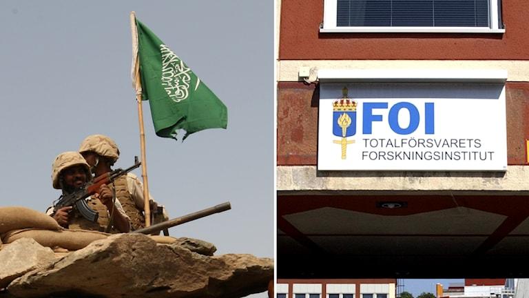 Soldater i Saudiarabien. Totalförsvarets forskningsinstitut. Foto: Hassan Ammar, Anders Wiklund/Scanpix.