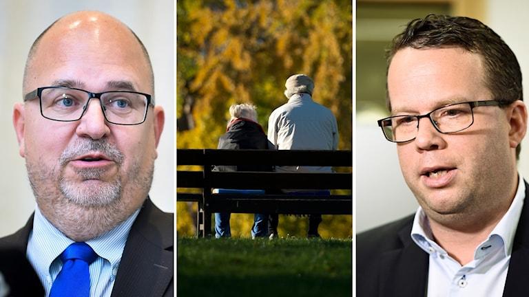 LO:s förbundsordförande Karl Petter Thorwaldsson och Martin Linder, förbundsordförande Unionen.