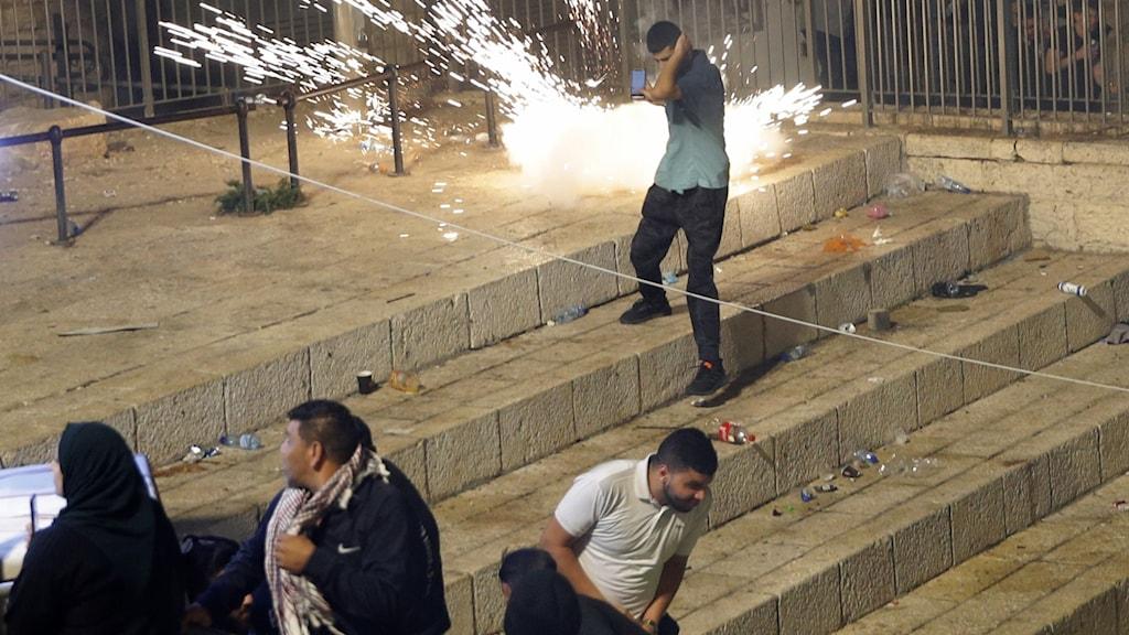Våldsamma protester i Jerusalem fortsätter